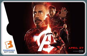 Infinity War Iron Man Gift Card