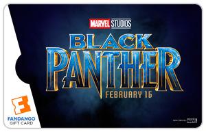 Black Panther Logo Movie Gift Card