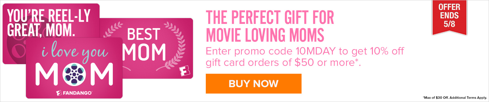 mother's day gift card offer