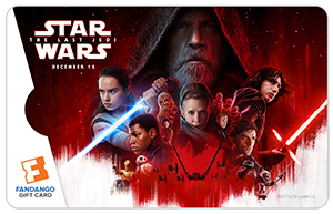 Star Wars The Last Jedi Full Poster Movie Gift Card