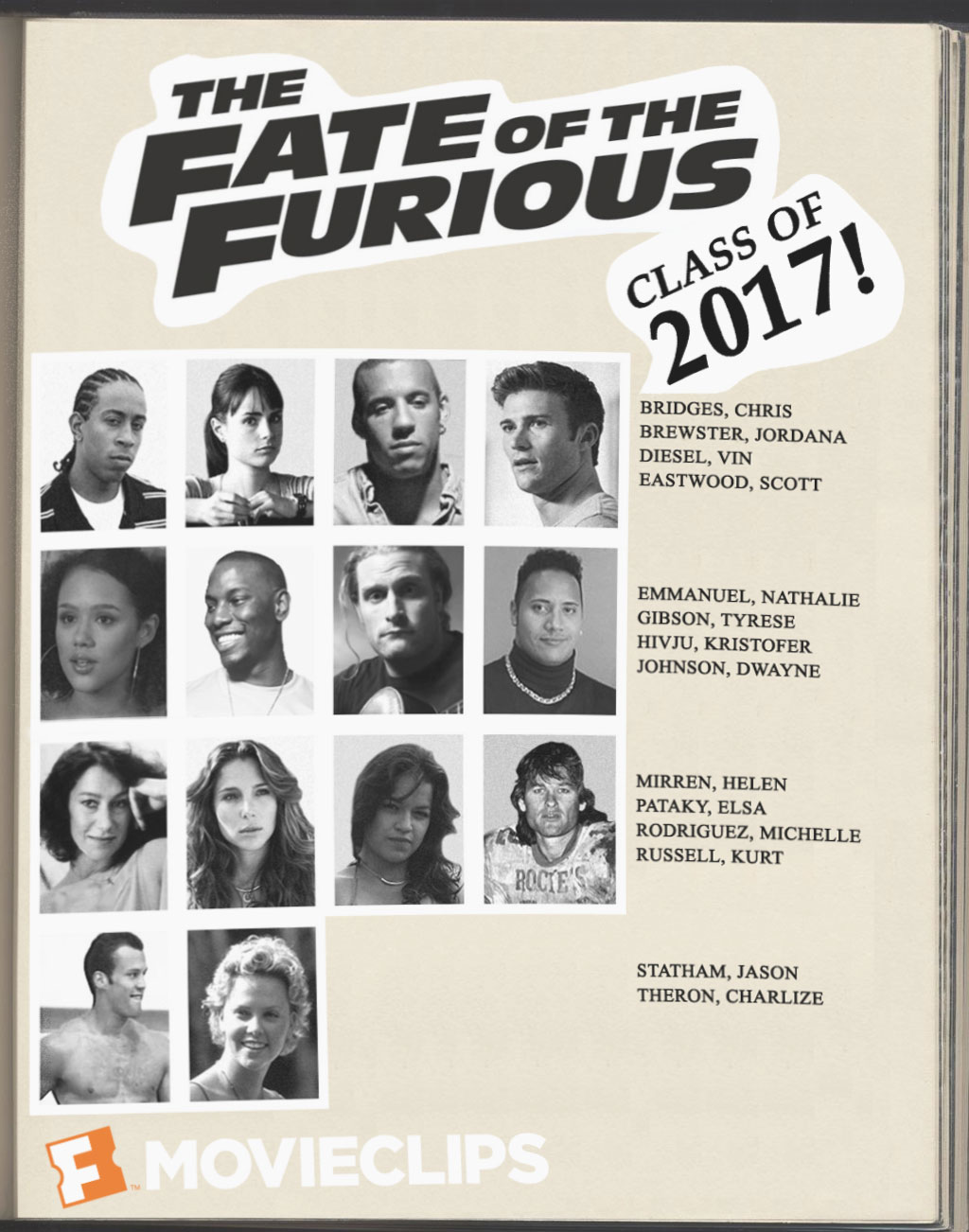 'Fate of the Furious' Yearbook: What if the Cast Went to High School Together?