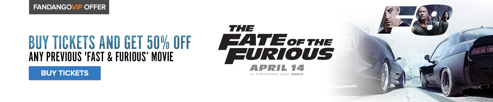 Fandango Fate of the Furious Free Gift