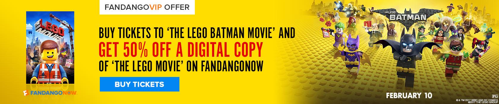 Fandango LEGO Movie Free Gift