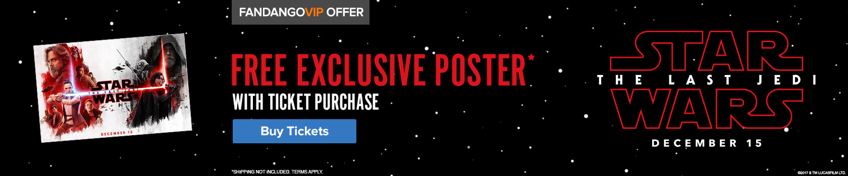 Fandango Star Wars The Last Jedi Gift with Purchase