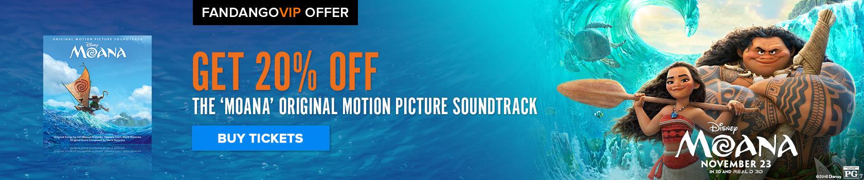 Fandango Moana Soundtrack Offer