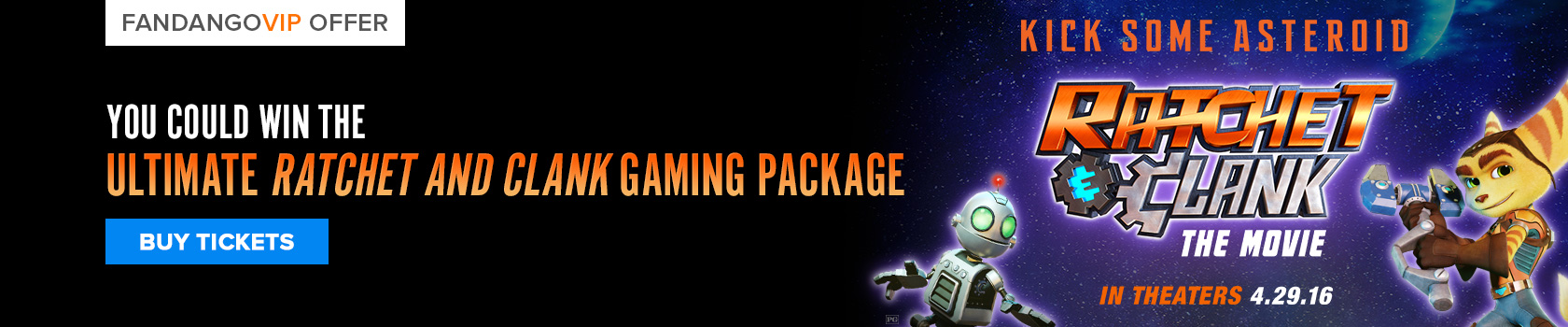 Fandango Ratchet and Clank Sweepstakes