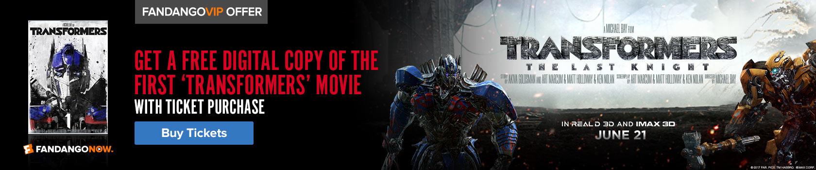 Fandango Transformers Free Gift