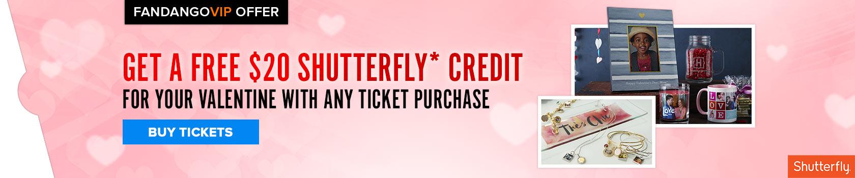 Fandango Shutterfly Sitewide Free Gift