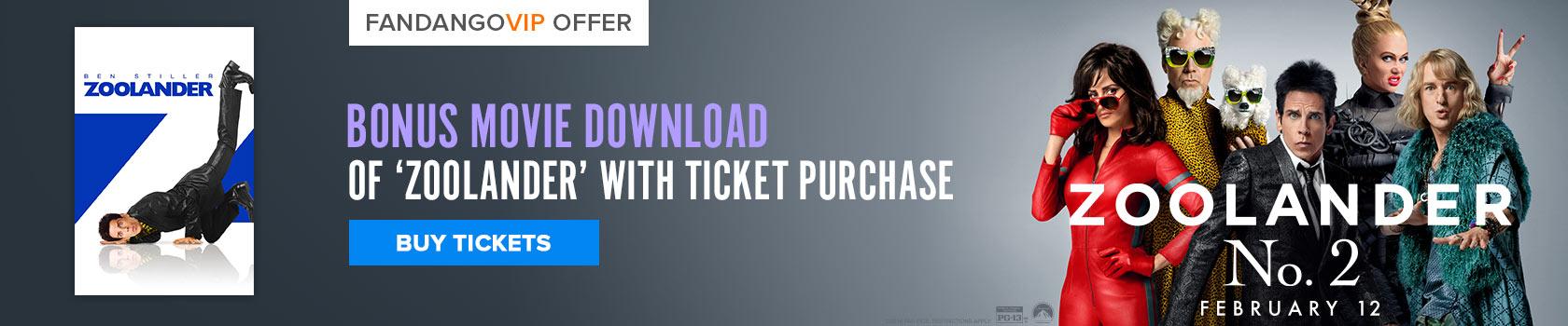Fandango Zoolander 2 Free Gift With Purchase