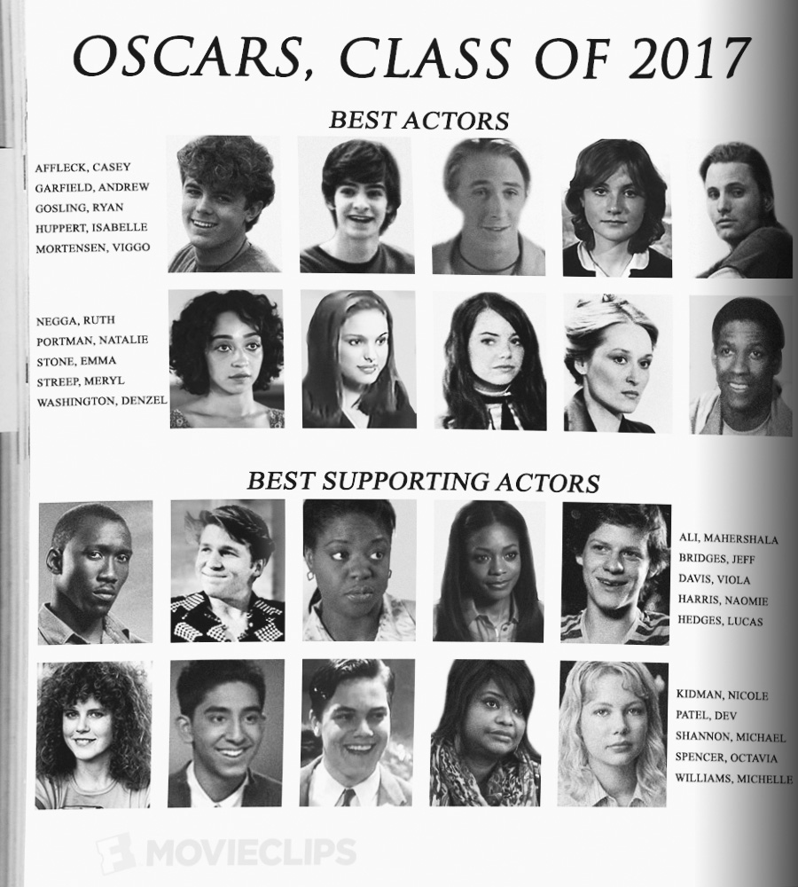 Presenting The Oscars, Best Acting Class Of 2017 Yearbook