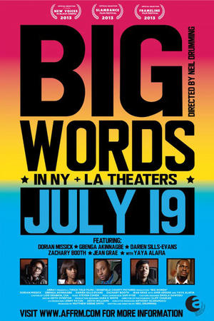 """Poster art for """"Big Words."""""""
