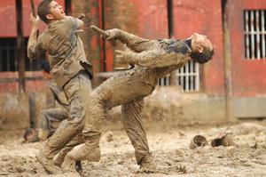 """Iko Uwais as Rama in """"The Raid 2."""""""
