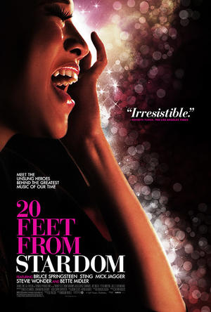 "Poster art for ""20 Feet From Stardom."""