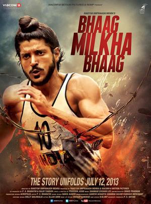 "Poster art for ""Bhaag Milkha Bhaag."""