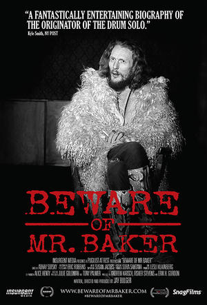 """Poster art for """"Beware of Mr. Baker."""""""
