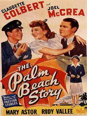 """Poster art for """"The Palm Beach Story."""""""