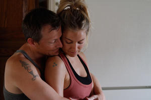 """Tim Guinee and Sienna Miller in """"Just Like a Woman."""""""