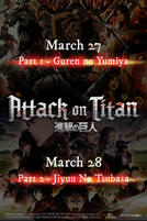 Attack on Titan Part 1 - Guren no Yumiya (2017) showtimes and tickets