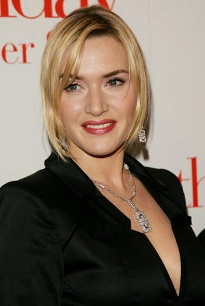 "Actress Kate Winslet at the N.Y. premiere of ""The Holiday."""