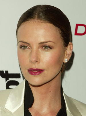 "Actress Charlize Theron at the N.Y. premiere of ""East of Havana."""