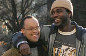 "Christopher Scott as James and Nashawn Kearse as Isaiah in ""My Brother."""