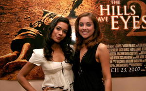 """Actress Daniella Alonso and actress Jessica Stroup at N.Y. Comic Con to promote """"The Hills Have Eyes 2."""""""