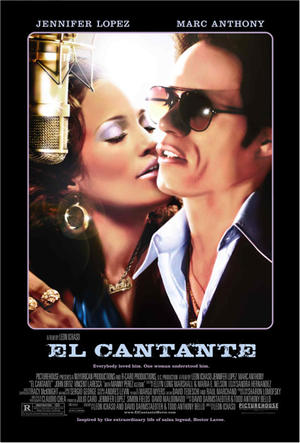 "Poster art for ""El Cantante."""