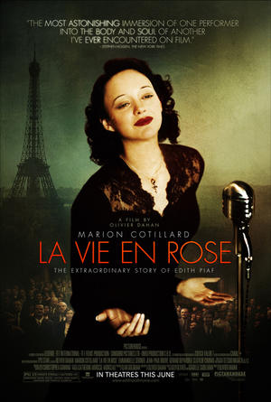 "Poster art for ""La Vie en Rose."""
