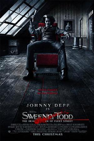 "Poster art for ""Sweeney Todd: The Demon Barber of Fleet Street."""