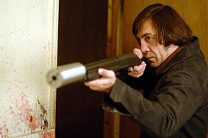 "Javier Bardem in ""No Country for Old Men."""