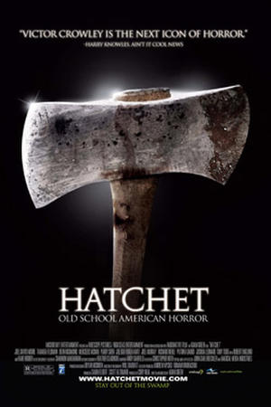 """Poster art for """"Hatchet."""""""