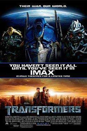 """""""Transformers: The IMAX Experience"""" poster art."""