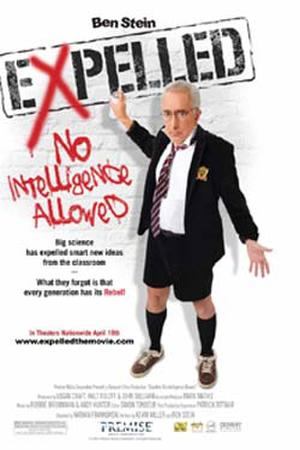 "Poster art for ""EXPELLED: No Intelligence Allowed."""