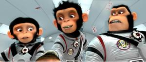 "A scene from ""Space Chimps."""