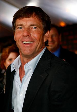 "Dennis Quaid at the New York premiere of ""The Express."""