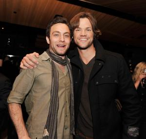 """Jonathan Sadowski and Jared Padalecki at the after party of the California premiere of """"Friday The 13th."""""""