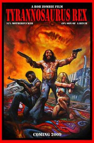 "Poster art for ""Rob Zombie's Tyrannosaurus Rex."""