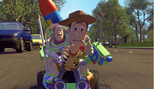 "Woody and Buzz Lightyear in ""Toy Story."""