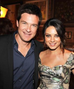 "Jason Bateman and Mila Kunis at the after party of the California premiere of ""Extract."""