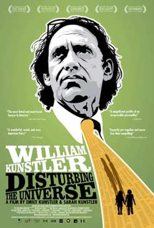 "Poster art for ""William Kunstler: Disturbing the Universe."""