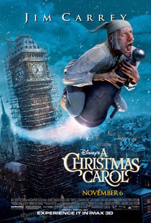 "Poster art for Disney's ""A Christmas Carol."""