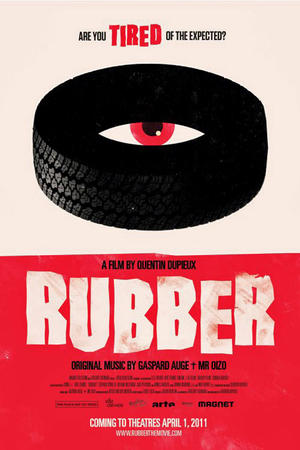 "Poster art for ""Rubber."""