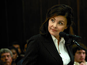 "Sherilyn Fenn in ""The Scenesters."""