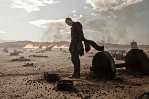 "Paul Bettany as Priest in ""Priest."""