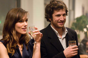 "Keira Knightley and Guillaume Canet in ""Last Night."""