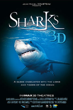 """Poster art for """"Sharks 3D."""""""