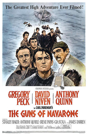 "Poster art for ""The Guns of the Navarone."""