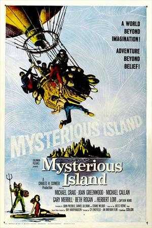 "Poster art for ""Mysterious Island."""