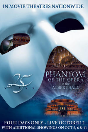 "Poster art for ""Phantom of the Opera 25th Anniversary."""