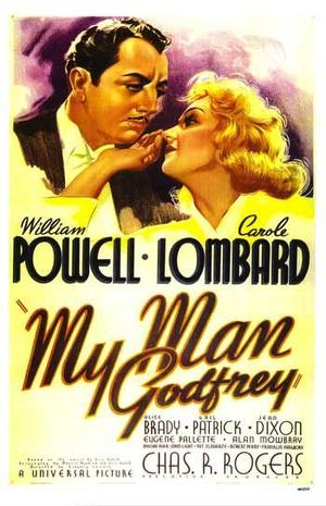 "Poster art for ""My Man Godfrey."""